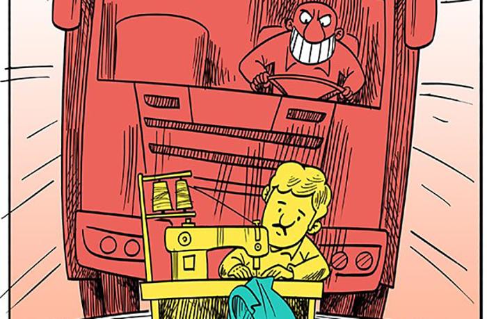کاریکاتور/ قاچاق ۸ میلیارد دلاری پوشاک!