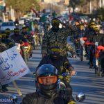 📷تصاویر/ رژه موتوری گردان امام علی(ع) شهرستان میبد