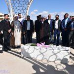 مراسم تجدید میثاق با شهید گمنام دانشگاه میبد