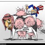 کاریکاتور/ گاو «۹ هزار مَن» شیرده!!!