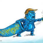 کاریکاتور ترامپ و ۱۳ آبان