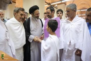 دیدار جوانترین حاجی ایرانی با نمایندهولیفقیه در مدینه