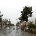 تصاویری از حال و هوای بارانی میبد در روزهای اخیر