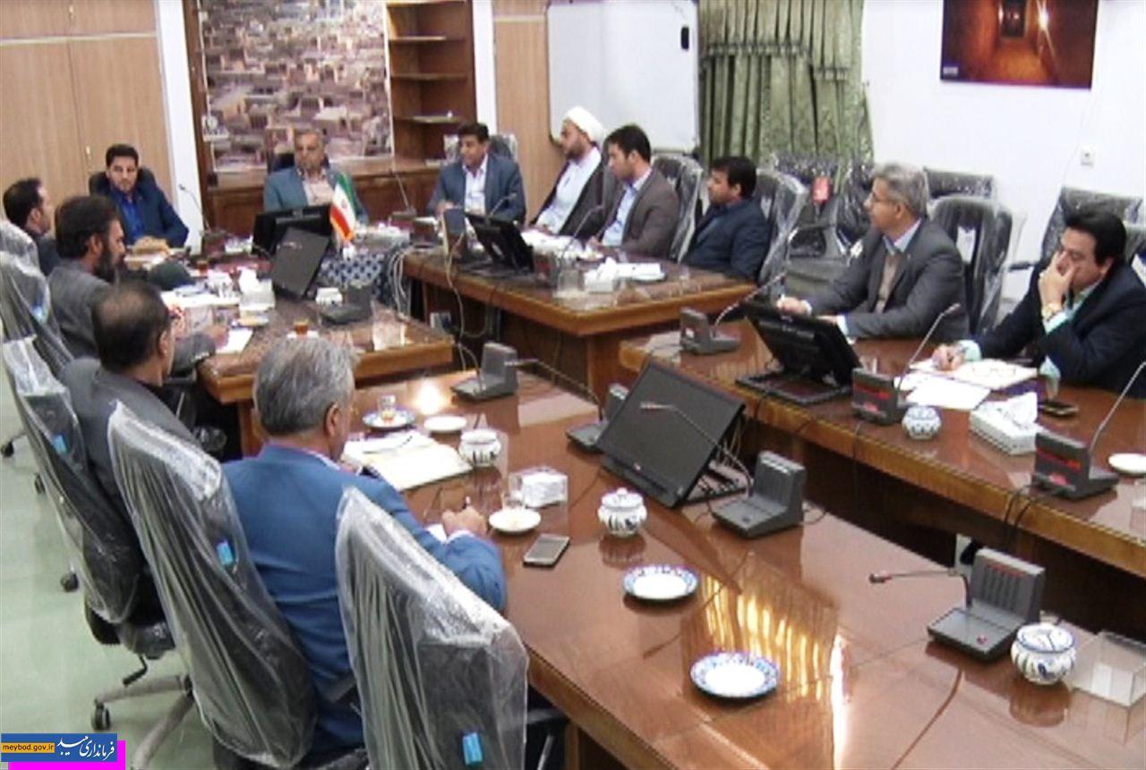 جلسه خدمات سفر شهرستان میبد برگزار شد