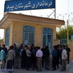 تجمع کارگران یک کارخانه کاشی در اعتراض به عدم پرداخت چند ماهه حقوق در میبد