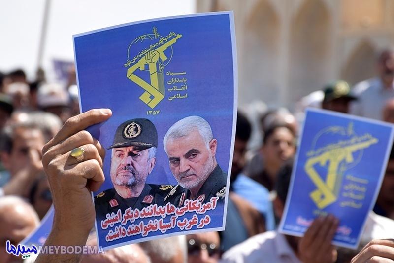 گزارش تصویری/ حمایت نمازگزاران میبدی از سپاه پاسداران انقلاب اسلامی