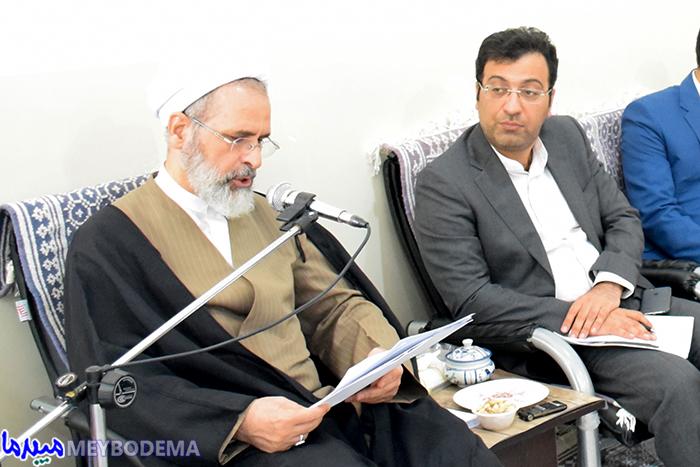 نشست شورای فرهنگ عمومی شهرستان میبد با حضور آیت الله اعرافی برگزار شد/ تصاویر