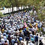 گزارش تصویری از راهپیمایی روز قدس در شهرستان میبد