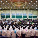 جشن و نورافشانی به مناسبت اعیاد شعبانیه در مصلی ایت الله اعرافی/ گزارش تصویری
