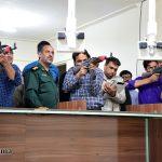 گزارش تصویری از تمرین تیراندازی سیمیلاتور توسط بسیجیان گردان امام حسین(ع) میبد