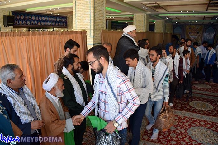 مراسم افتتاحیه اردوهای جهادی قرارگاه شهید علم الهدی میبد برگزار شد