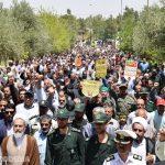 """گزارش تصویری """"میبدما"""" از خروش ضداسرائیلی مردم میبد در روز قدس/ همراه با تصاویر نماز جمعه"""