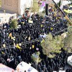گزارش تصویری از برگزاری مراسم راهپیمایی ۱۳ آبان در میبد