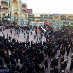 گزارش تصویری از نخلبرداری روز سیزده محرم در حسینیه دارالشفاء یخدان + کلیپ