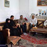 تصاویر/ دیدار آیت الله اعرافی از خانواده مرحوم کریمزاده