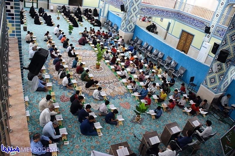 فیلم و عکس/ مراسم جزء خوانی قرآنکریم در مسجد جامع امیرآباد میبد