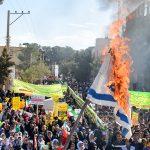 گزارش تصویری از راهپیمایی روز ۱۳ آبان در شهرستان میبد