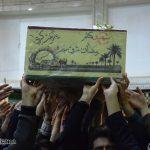 گزارش تصویری/ مراسم استقبال از شهید گمنام ۱۸ ساله در میبد برگزار شد