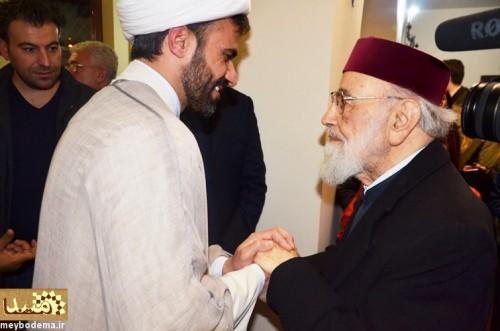 حجت الاسلام امامی میبدی در کنار اسقف کاپوچی