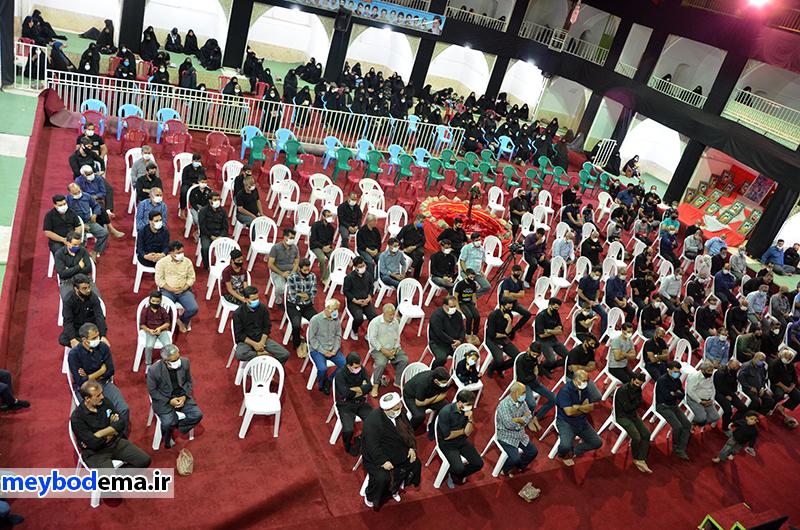 گزارش تصویری از مراسم هفتم امامحسین علیهالسلام در حسینیه بزرگ دهآباد میبد