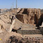بازدید مدیرکل بحران استان یزد از پل ورودی مهرآباد میبد