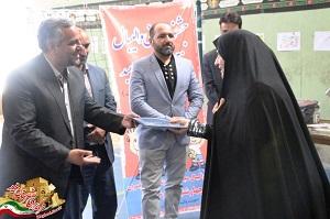 مسابقات مینیوالیبال دختران در میبد برگزار شد