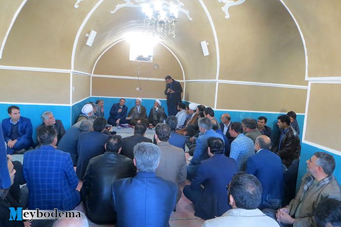 گزارش تصویری از نشست اداری مسئولین با حضور امام جمعه میبد در اردوگاه بنستان