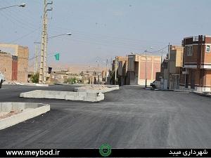 اتمام عملیات آسفالت خیابان حسینینسب شهیدیه