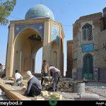 بهسازی آرامستان شهیدیه و مقبره آیت الله اعرافی