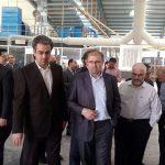 تصاویر/ افتتاح کارخانه تولید کاشی پرسلانلعابدار در میبد