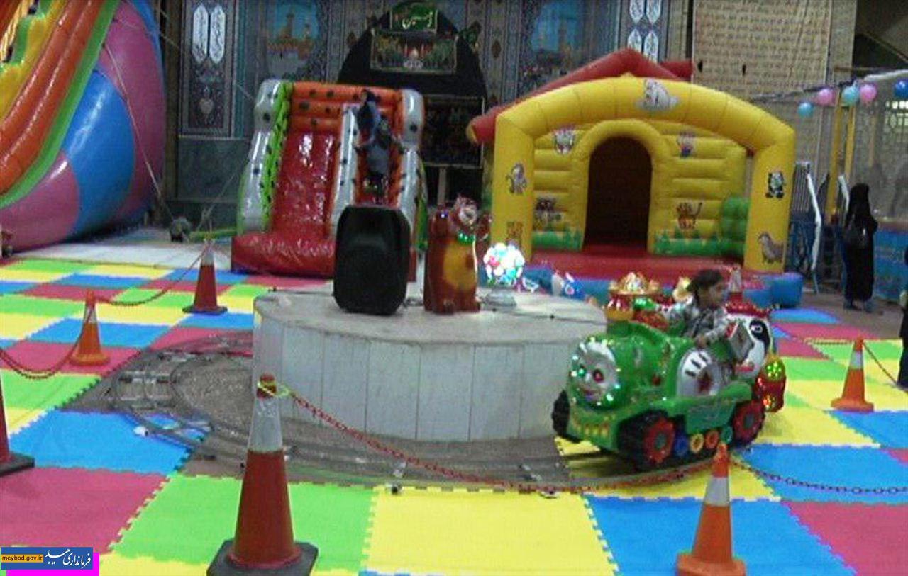 📸 تصاویر/ تبدیل حسینیه امیرآباد به شهربازی کودکان