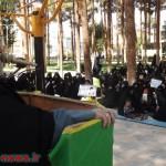 تصاویری از تجمع بانوان میبدی در پارک فلسطین در اعتراض به گسترش بدحجابی